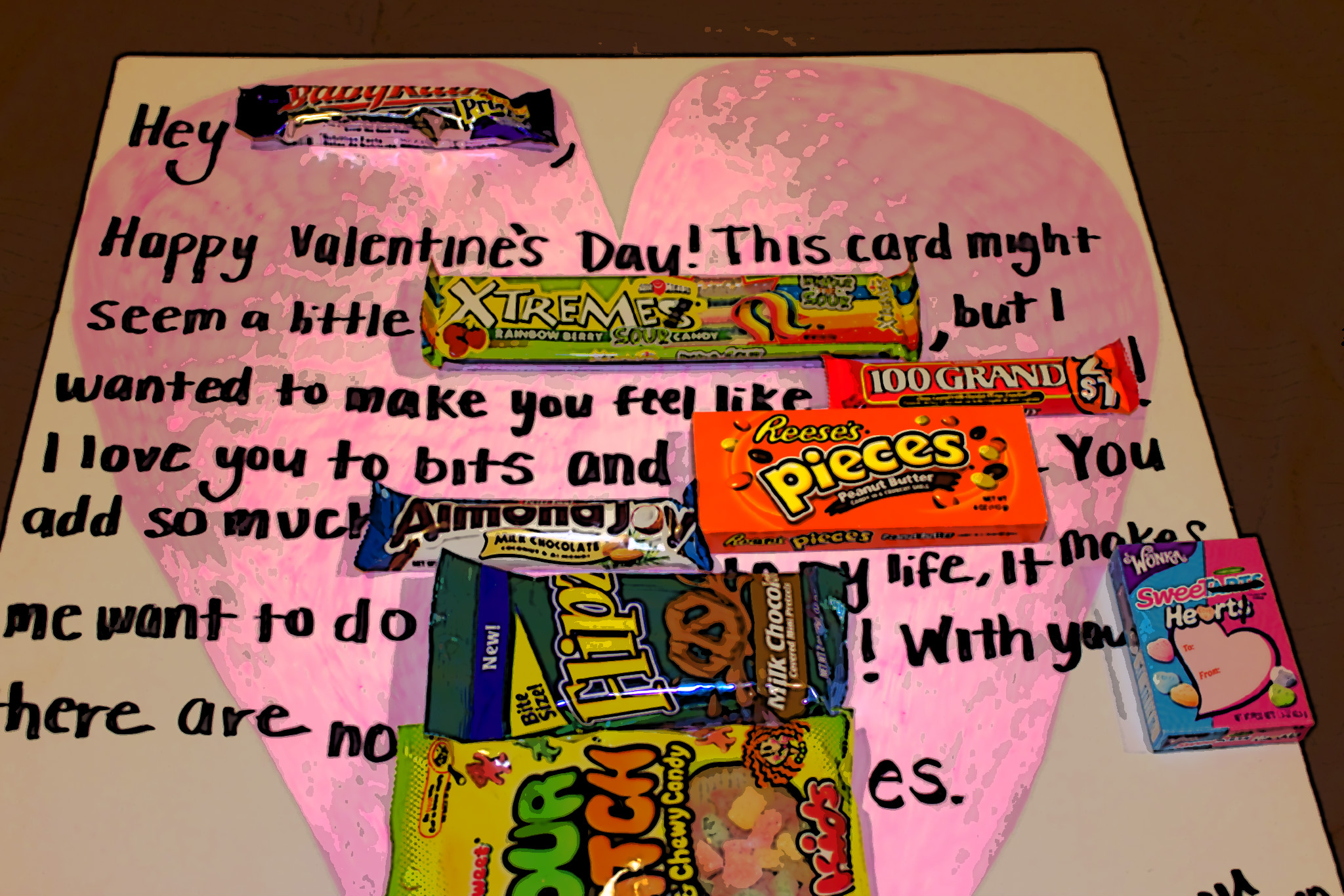 Valentines Day Candy Card love it – Candy Valentine Card