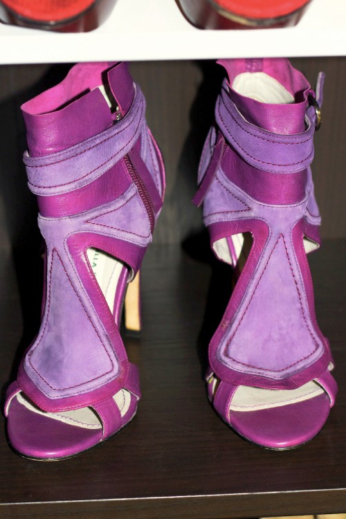 Camilla Skovgaard purple heels