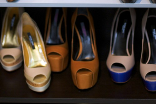 Ruthie Davies peep toe platform pumps
