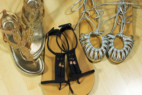 sandals metallic sandals